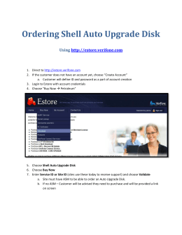 Ordering Shell Auto Upgrade Disk