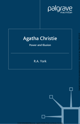 Agatha Christie: Power and Illusion