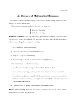 An Overview of Mathematical Reasoning