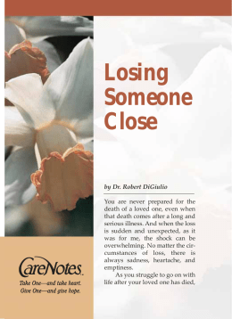 Losing Someone Close - Abbey Press Publications