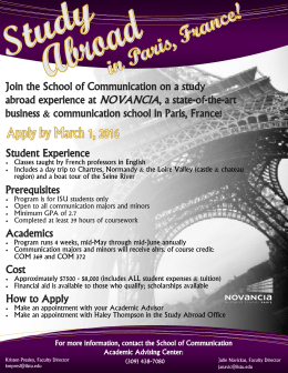 Novancia (Paris, France) Study Abroad