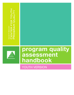 Youth Program Quality Assessment Handbook