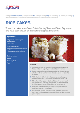 rice cakes - Cyclingteam Join