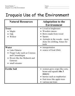 Iroquois Use of the Environment