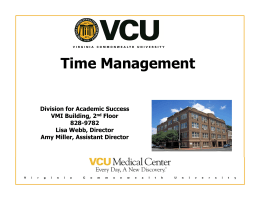 Time Management - Division for Academic Success