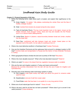Southwest Asia Study Guide