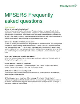 Frequently asked questions for MPSERS members