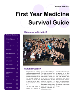 First Year Medicine Survival Guide