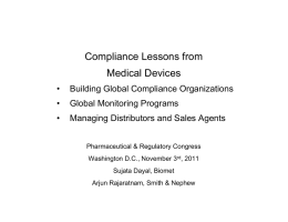 Compliance Lessons from Medical Devices