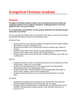 Evangelical Christian Academy Purpose
