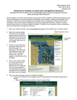 Using Enviro-weather to assist pest management decisions handout