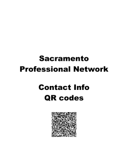 Sacramento Professional Network Contact Info QR codes