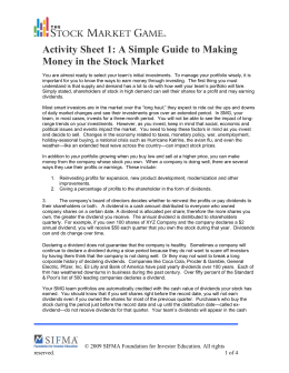 Activity Sheet 1: A Simple Guide to Making