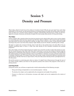 Session 5 Density and Pressure