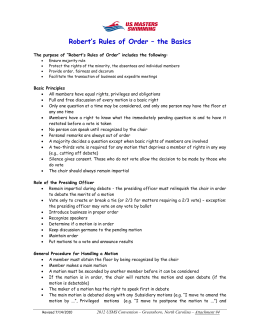 Robert`s Rules of Order