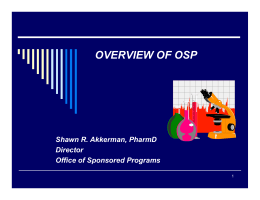 OVERVIEW OF OSP
