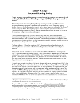 Emory College Proposal Routing Policy