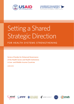 Setting a Shared Strategic Direction