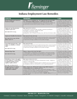 Indiana Employment Law Remedies