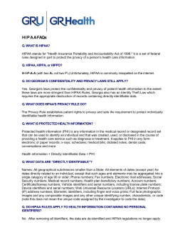 HIPAA FAQs - Augusta University