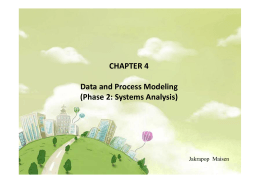 CHAPTER 4 Data and Process Modeling (Phase 2: Systems