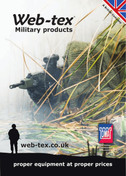 Military products web