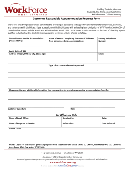 Customer Reasonable Accommodation Request Form