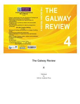 Contents - The Galway Review