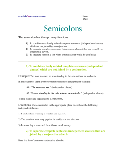 Semicolons - English for Everyone