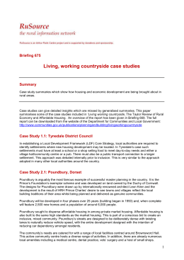 Living, working countryside case studies