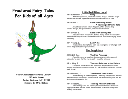 Little Red Riding Hood - Center Moriches Free Public Library