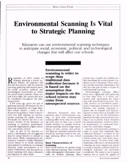Environmental Scanning Is Vital to Strategic Planning