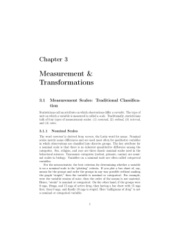 Chapter 3: Measurement and Transformations