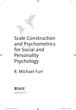 Scale Construction and Psychometrics for Social and Personality