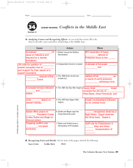 GUIDED READING Conflicts in the Middle East