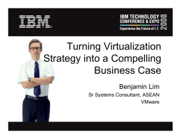 P5 - VMWare Benjamin_Turning Virtualization Strategy into a