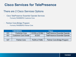 Cisco Services for TelePresence