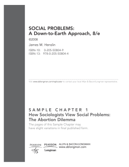 SOCIAL PROBLEMS: A Down-to