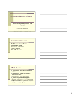 Telecommunication Basics Notes