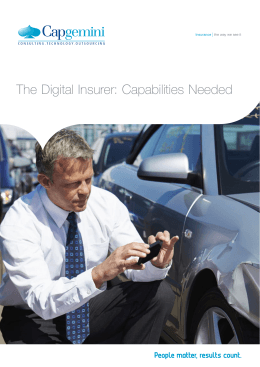 The Digital Insurer Capabilities Needed