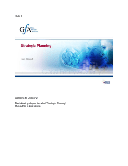 Strategic Planning - Global Fertility Academy