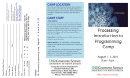 Processing - UND Computer Science Summer Camps