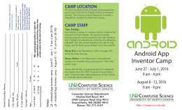 Android App Inventor Camp - University of North Dakota