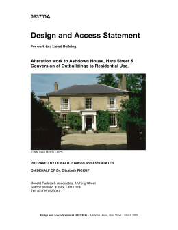 Design and Access Statement