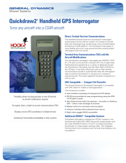 Quickdraw2® Handheld GPS Interrogator