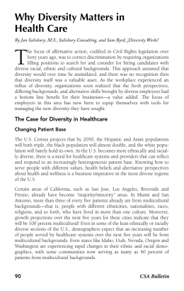 Why Diversity Matters in Health Care