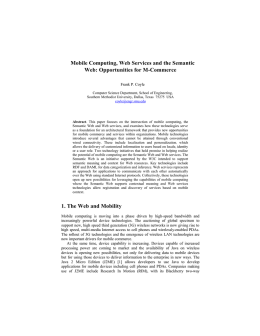 Mobile Computing, Web Services and the Semantic Web