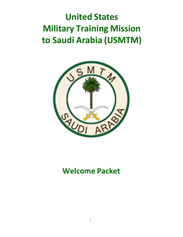 Packet - USMTM, United States Military Training Mission Official