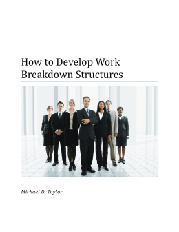 How to Develop Work Breakdown Structures