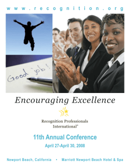 Brochure - Recognition Professionals International